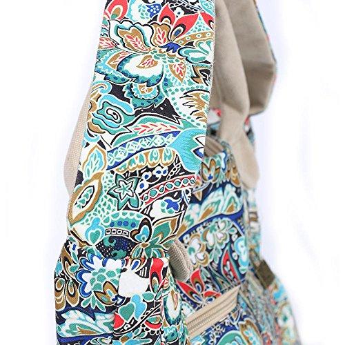 Chang Spent Frau nationale Windsegeltuchschulterbeutel-Freizeitbeutel Handtasche Crescent L