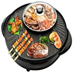 Multi-Function Electric Cooker One-Pot Pan Electric Hot Pot Smokeless Electric Oven Maifan Stone Household Electric...