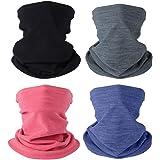 4 calentadores de cuello de invierno para hombres y mujeres, polainas de cuello de forro polar resistente al viento, bandana