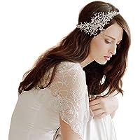 Butterme Catena coronale delle donne di cristallo del diamante sposa sposa l'accessorio dei capelli della fascia capa di…