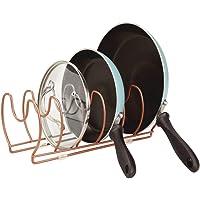 mDesign égouttoir en métal pour casseroles, poêles et couvercles – Range Couvercle Compact à 6 Places pour Placard de…