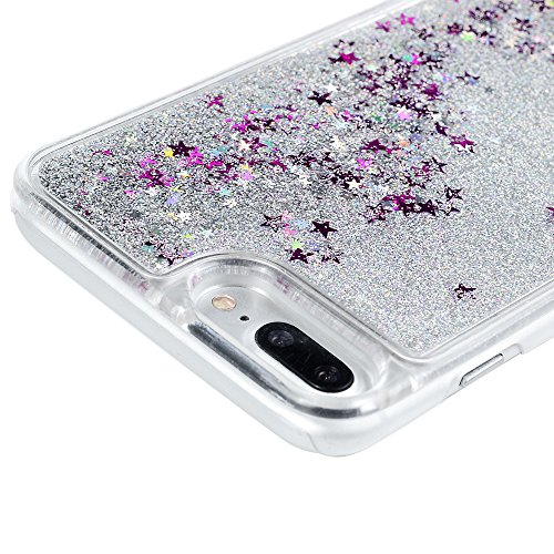Badalink Coque iPhone 7 Plus(5.5''), Case Housse Étui Bumper Coque de Protection PC Silicone Gel Transparent Souple Flexible Ultra Mince Slim Léger Anti Rayure Antichoc Housse iPhone 7 Plus(5.5'') Edg Argent
