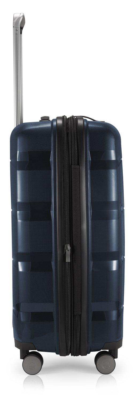 HAUPTSTADTKOFFER – BRITZ – Juego de 3 Piezas (55 cm, 66 cm, 75 cm), Maleta rígida giratoria, Trolley, TSA, 4 rudeas – Azul Oscuro