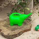 Antikas - Blumengießkanne, Kindergießkanne, Kanne für Sandkasten, Elefant in grün