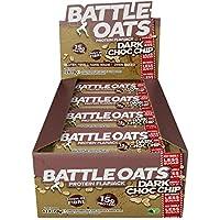 Battle Oats High Protein Gluten Free Flapjacks Protein Bar, New Low Sugar Formula, Dark Chocolate Chip, 12 x 70g