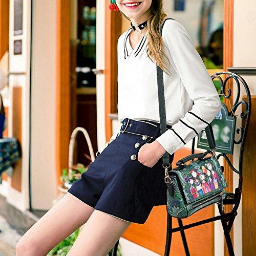Damen Umhängetasche Herbst Trend von Drücken Messenger Taschen für Frauen Schultertasche L025EU-Rot