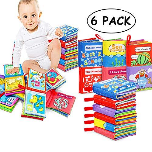 Funmo 6 Juegos de bebé súper Blandos, 0-12 Meses, Libros...