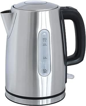 Wasserkocher Kunststoff 1,7 Ltr. Edelstahl schwarz DESKI