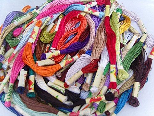 50Seide Rayon gestrandet Garnknäuel Stickerei Threads, 50tolle Farben, (Hand-stickerei Zahnseide)
