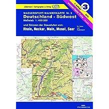 Jübermann Wassersport-Wanderkarten, Bl.3, Deutschland-Südwest