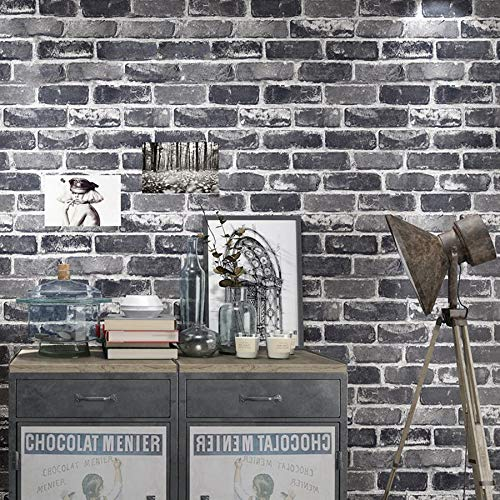 LFBIZHI Vintage Imitation Ziegel 3D Wallpaper Roll Bar Restaurant Cafe Tapeten Hintergrund...