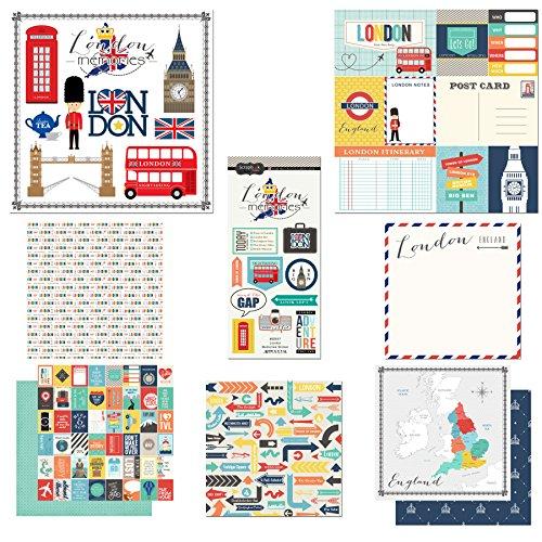 Scrapbook Customs Themed Paper & Stickers Scrapbook Kit, London City Memories