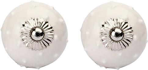 Amber Shine Ceramic Door Knobs Handpainted & Decorative/Door Handles/Cabinet/Drawer/Door Pulls/Cabinet Pulls/Drawer Pulls (Set of 2)