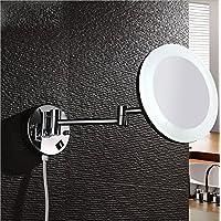 Montato a parete in acrilico pieghevole luce LED singolo specchio specchio del bagno 8 pollice per il montaggio a parete a specchio per il trucco WC obiettivo