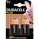 Duracell - Pile Alcaline - 9V x 2 - Plus (6LR61)