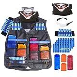 YAKOK Kinder Taktische Weste Kit: 1 Weste, 2 Magazin Clip, 40 Pfeile Darts, 1 Brille, 1 Maske, 1 Armband für N-Strike Elite, Modulus, Stryfe