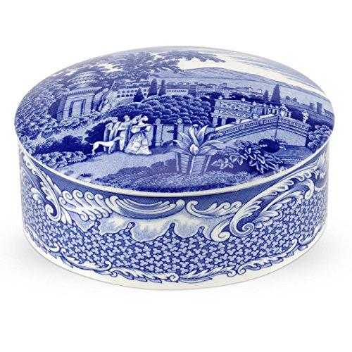 Blue Room 13 cm große Aufbewahrungsdose aus Porzellan, Blau/Weiß (Blau Weiß Mugs)