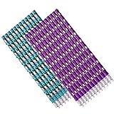24 Stück TE-Trend Bleistifte Schreibstifte Einhorn Design mit Radiergummi 19cm