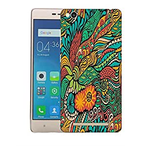 Snoogg vector seamless texture with abstract flowers endless background ethnic sea Designer Protective Back Case Cover For Xiaomi Redmi 3S Prime