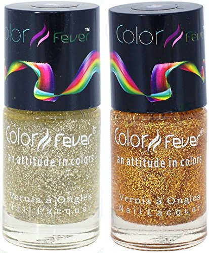 Color Fever Nail Gloss - Nail Polish Set ( Goldy Dots)