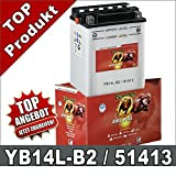 Motorradbatterie 14AH YB14L-B2, CB14L-B2, Banner 51413, HONDA CBR1000, Suzuki GSX 750