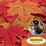 Ztsy, circa 100 foglie artificiali di acero con colori autunnali, bellissime