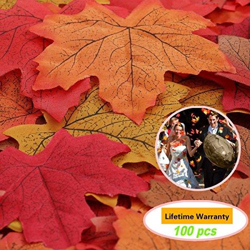 ztsy ca. 100�K�nstliche Herbst Fall Ahorn Bl�tter Herbst Farben���Tolles Herb... (Festival-aktivitäten Halloween-herbst)
