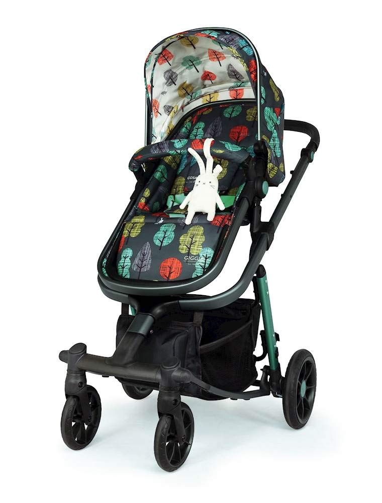Cosatto Giggle Quad Pram & Pushchair Hare Wood Cosatto Enhanced performance. unique tyre material and all-round premium suspension give air-soft feel. Comfy all-round. spacious carrycot for growing babies.  washable liner. reversible reclining seat. Ultimate buy. tested up to a mighty 20kg for even longer use. big 3.5kg capacity basket for big shop 6