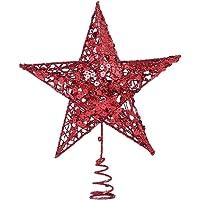 VORCOOL Décoration de Sapin de Noël Étoile à Cinq Branches Décoration de Sapin de Noël Accessoires de Décoration de Noël…