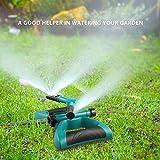 Irrigatore Per Giardino, Timer Automatico Spruzzatore a Prato 360 °Rotante Irrigazione da Giardino Spruzzatore A 3 Bracci A Lungo Raggio Con Adattatore Standard Europeo