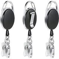 Porte-clés Yoyo - Vicloon Enrouleur Rétractable Longueur 68.5 cm avec Ressort Renforcé et Cordon Résistant,pour des…