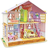 CubicFun Dollhouse Kits with Furniture 3D Puzzle Toy Gift for Girls, Sara's Home, Kids House 96...