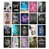 20er Postkarten-Spar-Set – LIFE IS LIFE – DIN A6, 20 verschiedene Motive mit Sprüchen, Zitaten und Aphorismen – von TypeStoff (DIN A6 (life is life))