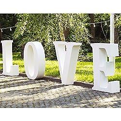 Palabras Love de Boda en Corcho | 60 cm de altura x 15 cm de grosor | Distintos tamaños y precios