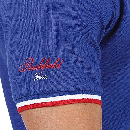 Ruckfield Herren Poloshirt, Einfarbig Blau