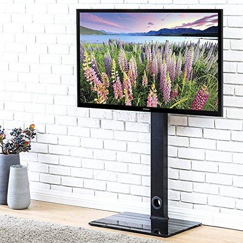 FITUEYES Floor TV Stand with Swivel Adjustable Mount for 32 to 55 inch LCD LED Plasma TVs TT106001MB