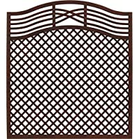 Andrewex wooden fence, fencing panel, garden fence 180/195 x 180, varnished, brown