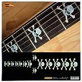 Marqueurs de palissandre incrustation Autocollant Stickers pour guitare et basse–Tête de mort–WP