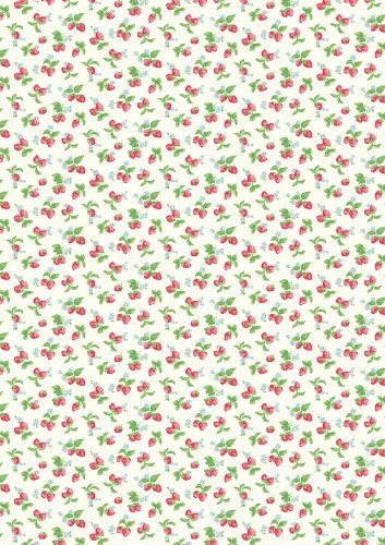 1 Cath Kidston Erdbeere gemustert DIN A4-Blatt Fondant-Glasur