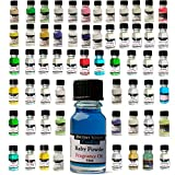 REMINISCE Fragrance Oils - Economy Pack of Favourites - Baby Powder, Cappucino, Cut Grass, Seabreeze, Bubblegum - For Aromatherapy, Candle Making, Oil Burners and Bath/Massage