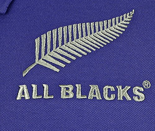 New Zealand All Blacks 2015/16 Players Media Rugby Polo Shirt Purple