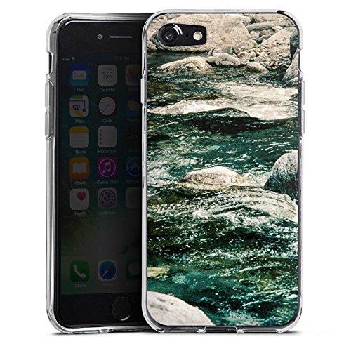 Apple iPhone X Silikon Hülle Case Schutzhülle Fluss Fels Steine Silikon Case transparent
