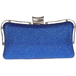 Pulama Damen Glitzer Handtasche Einfache Rüstung Abend Party Geldbörse Hochzeit Handtasche Blau