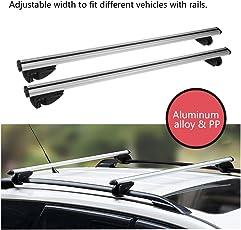 OUTAD Auto Dachträger Universal Dachgepäckträger Aluminium Relingträger Grundträger 123cm 100kg belastbar