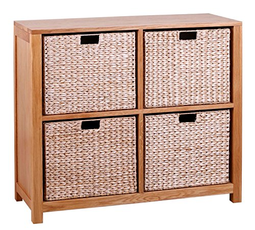 waverly-oak-storage-bookcase-in-light-oak-finish-with-4-seagrass-baskets-solid-wooden-shelving-cube-