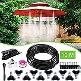 Weeygo Garten Automatische Bewässerung, 10M DIY Bewässerungssystem für Outdoor Kühlung Auf Gewächshausgarten, Sonnenschirme, Trampolin, Balkon