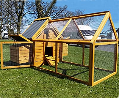 Cocoon CHICKEN COOP HEN HOUSE POULTRY ARK NEST BOX NEW - MODEL ECO 600-2N WITH DETACHABLE HUGE 1.4M RUN