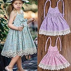 Girls Dress, Transer® Baby Kids Sleeveless Summer Dress 2-6 Years Girls Princess Dress Toddler Girls Outfit Clothes
