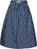 Damen Dirndlschürze mit Schnalle 68er Länge und 65er Länge NEU (S, dunkelblau 68er Länge)