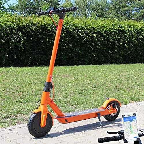 Smartway Elektro Scooter 500 W Escooter mit APP & Bluetooth Roller Elektroroller Faltbar Aluminium E-Scooter (orange)